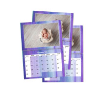 3 x A4 Double Personalised Calendar incl Delivery