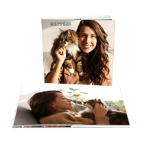 20pg 8x8inch (20x20cm) Pro Hardcover Lay-Flat incl Delivery